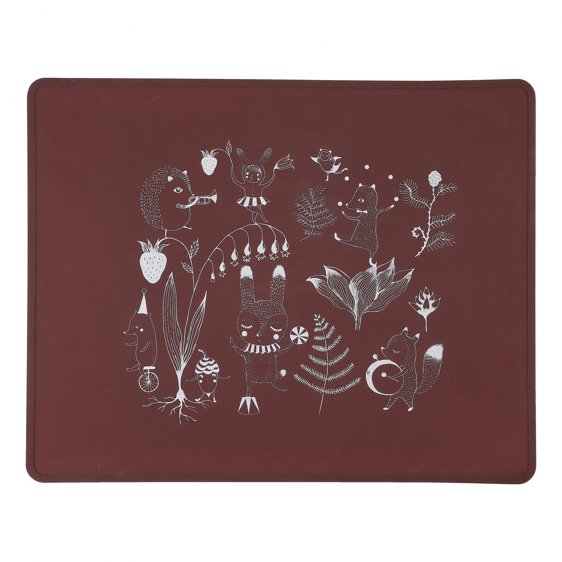 by lille vilde placemat - rood | ilovespeelgoed.nl