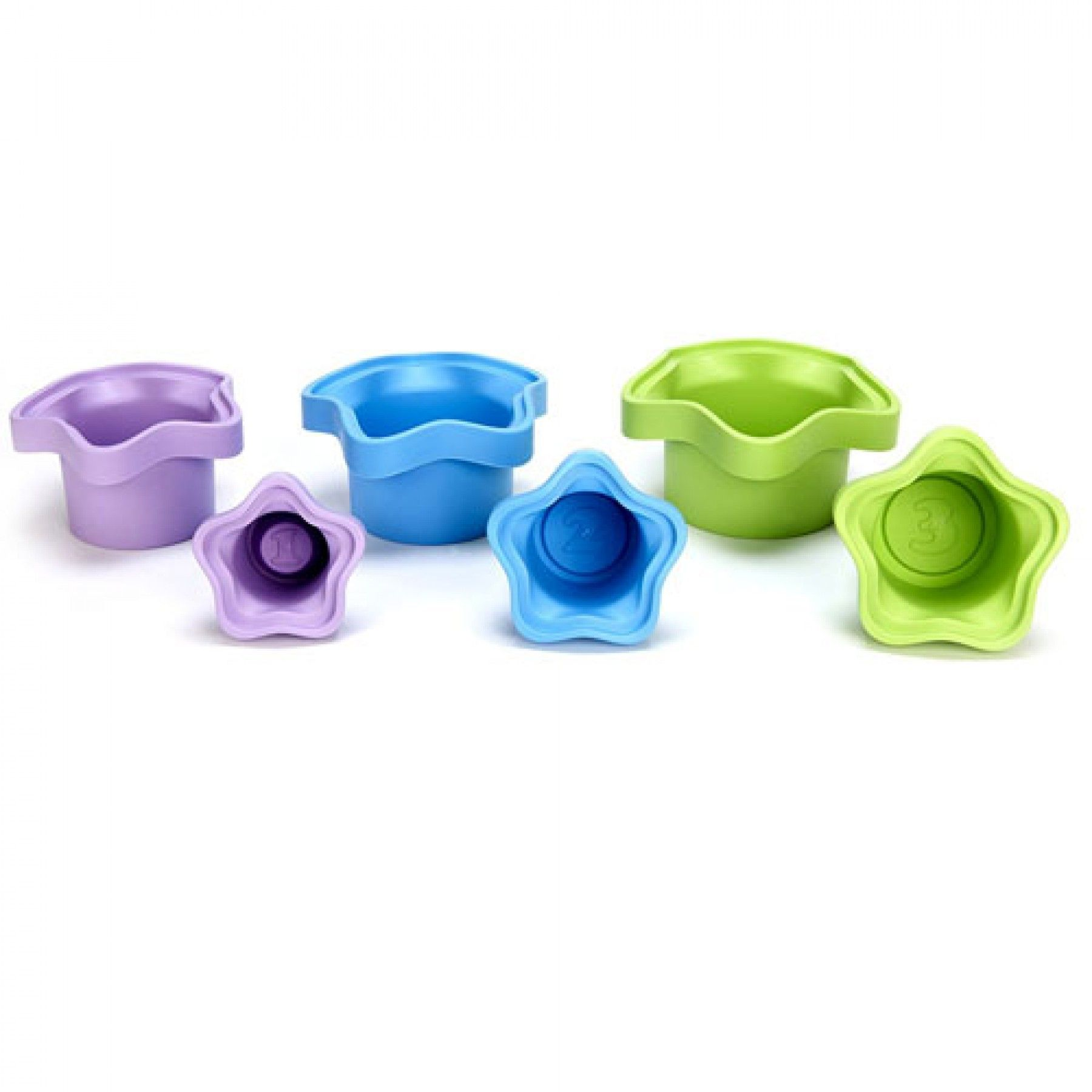 green toys stapelset stacking cups - gerecycled | ilovespeelgoed.nl