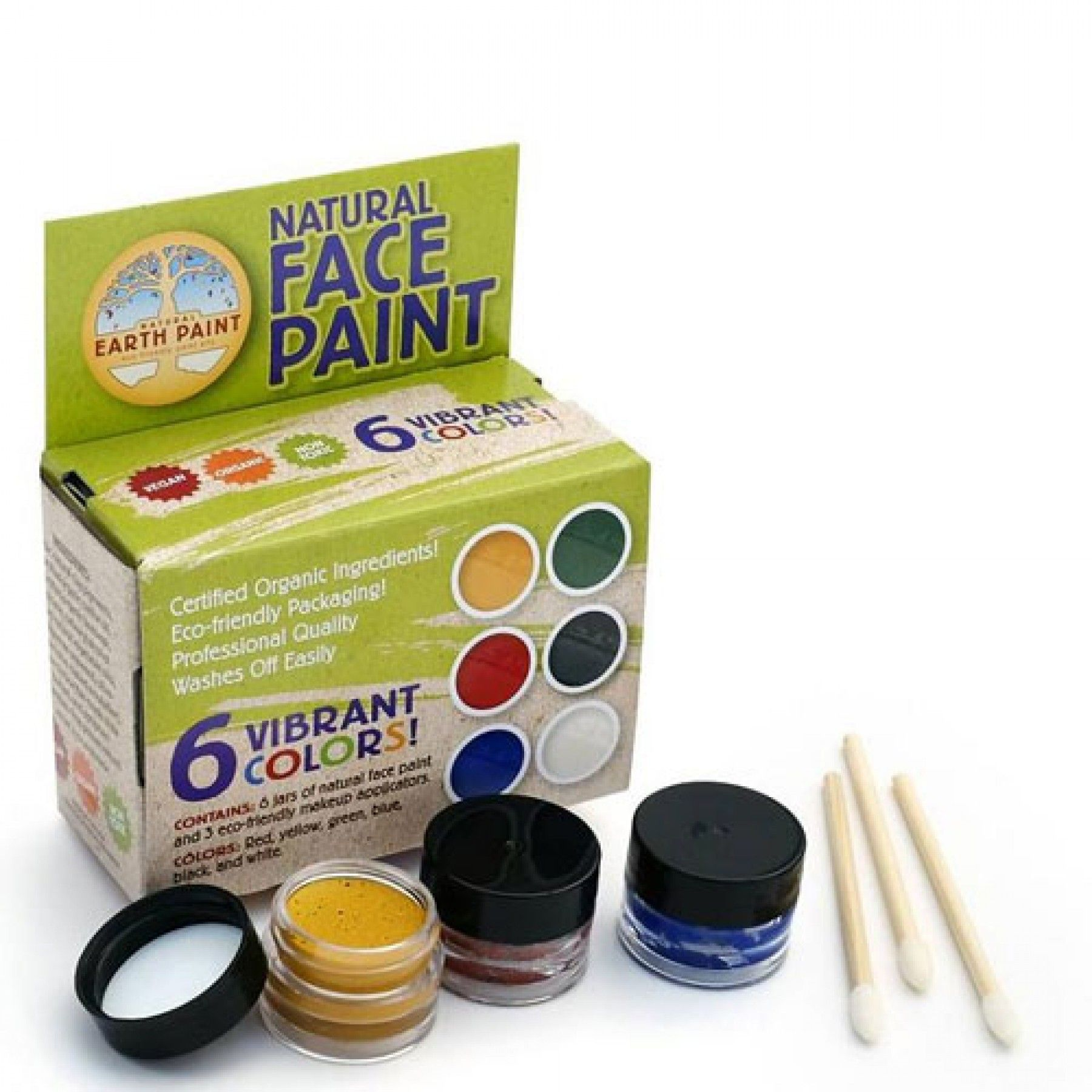 natural earth paint - natural face paint 148 | ilovespeelgoed.nl
