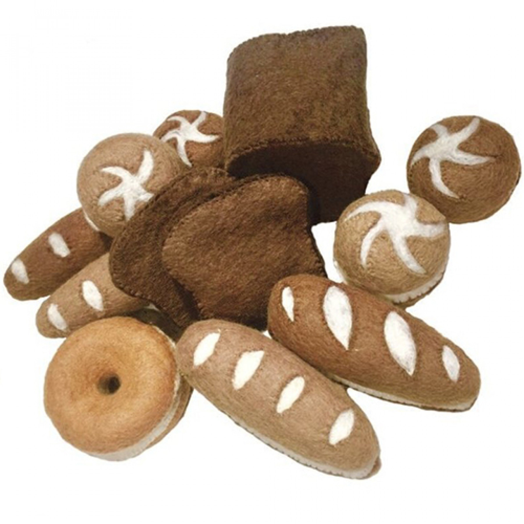 papoose toys broodjes - 17-delig | ilovespeelgoed.nl
