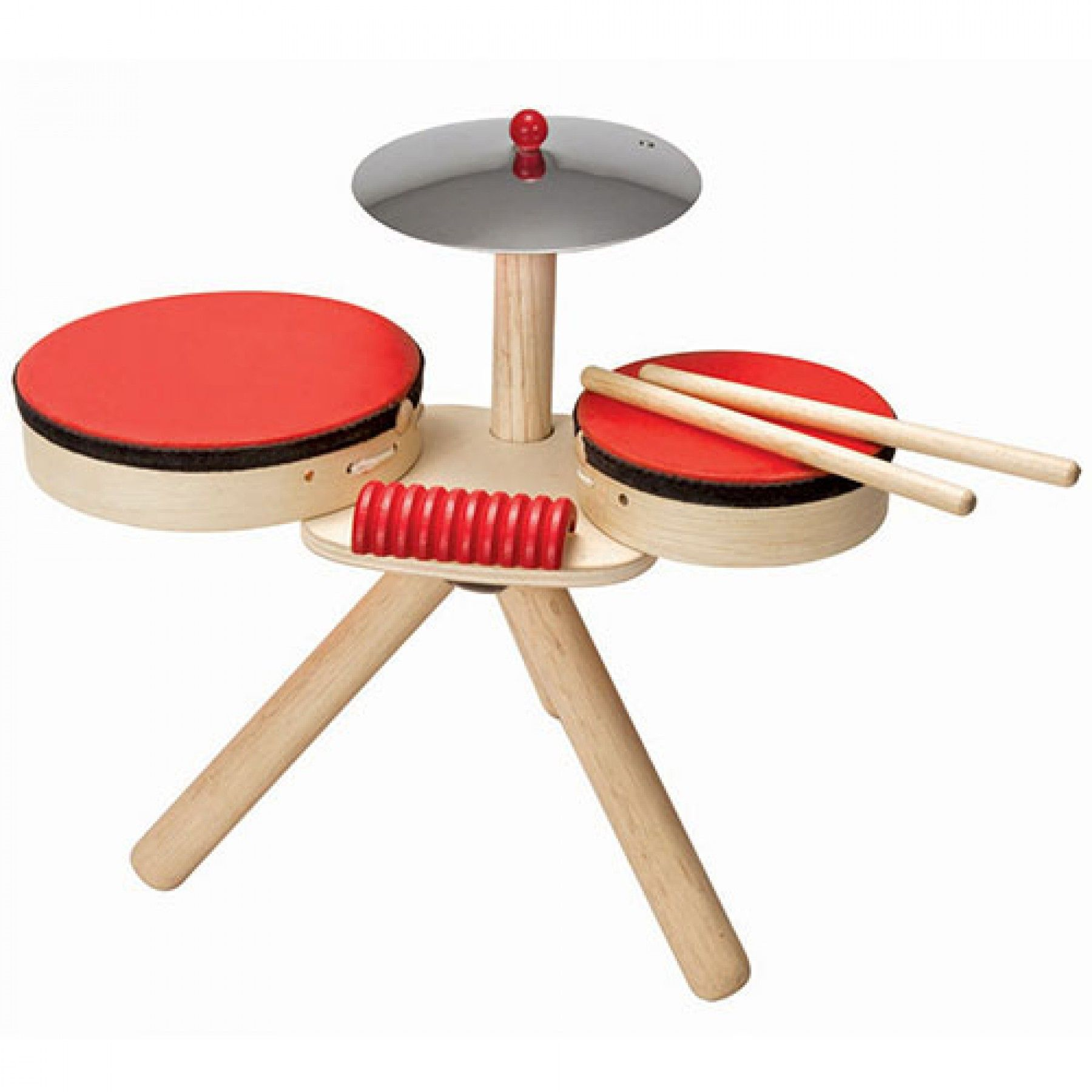 plan toys musical band drumstel  6410 | ilovespeelgoed.nl