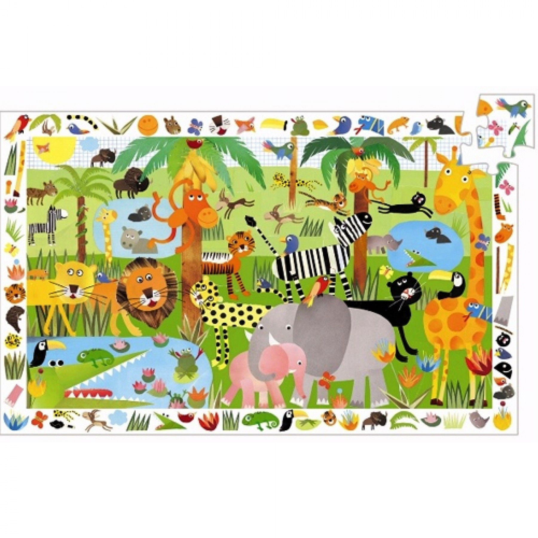 djeco puzzel observation jungle (35st) | ilovespeelgoed.nl