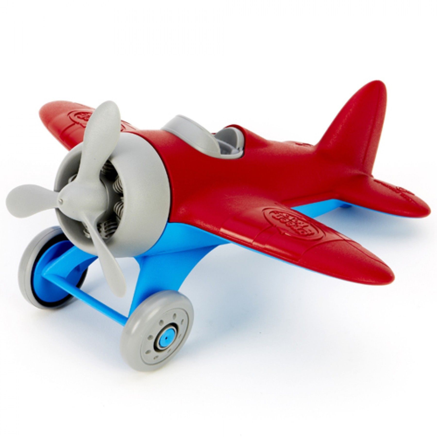 green toys vliegtuig rood - gerecycled | ilovespeelgoed.nl