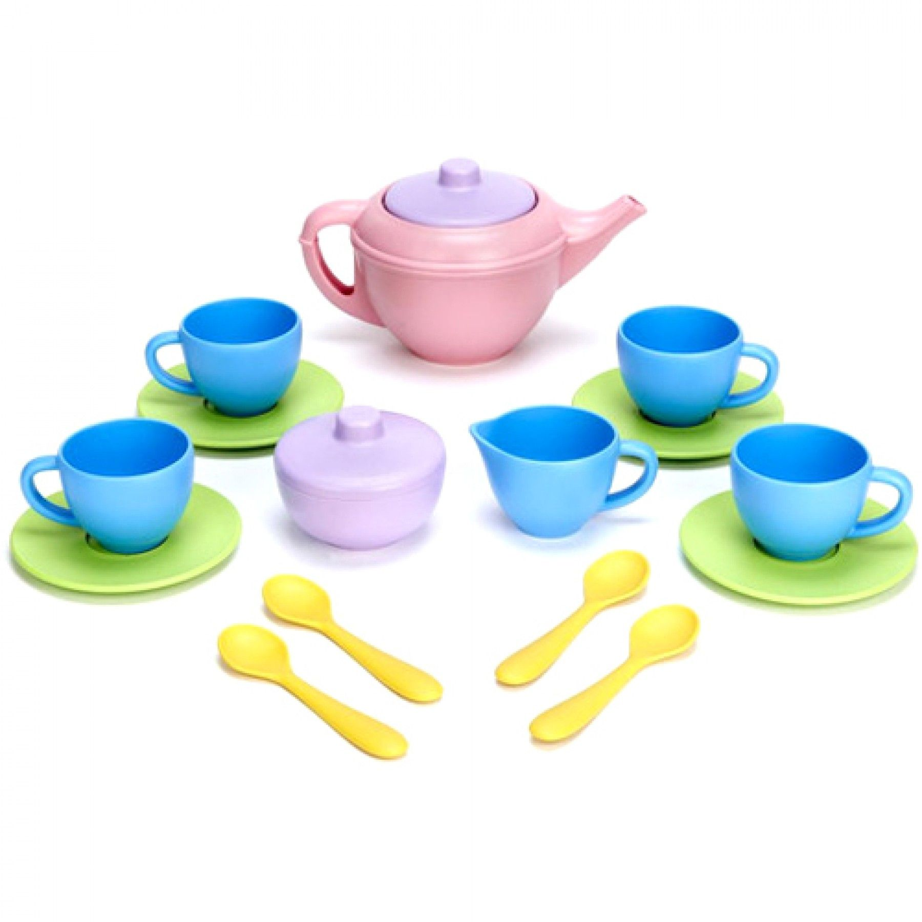green toys theeservies blauw 17-delig - gerecycled | ilovespeelgoed.nl