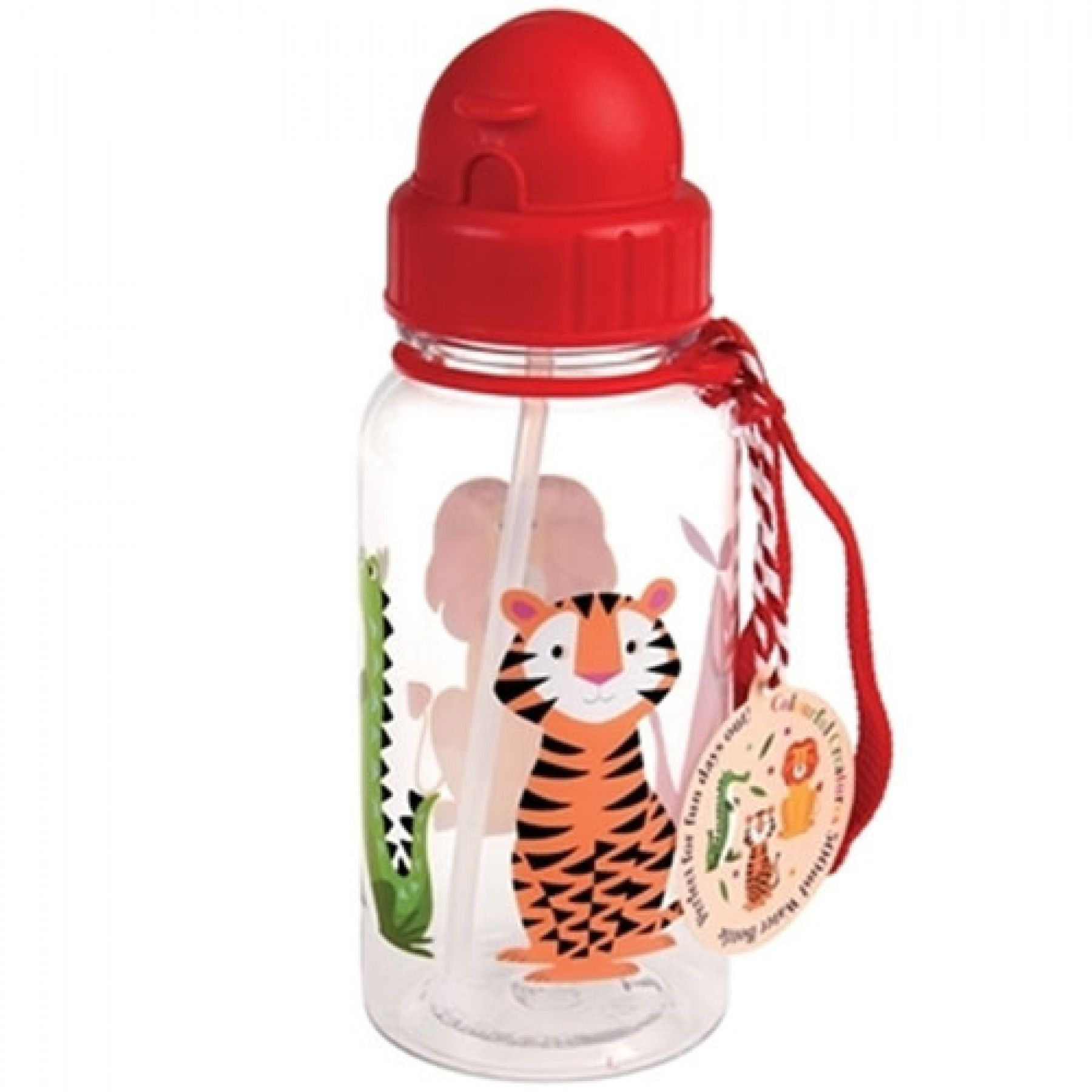 rex london drinkflesje met rietje colourful creatures (500ml) | ilovespeelgoed.nl