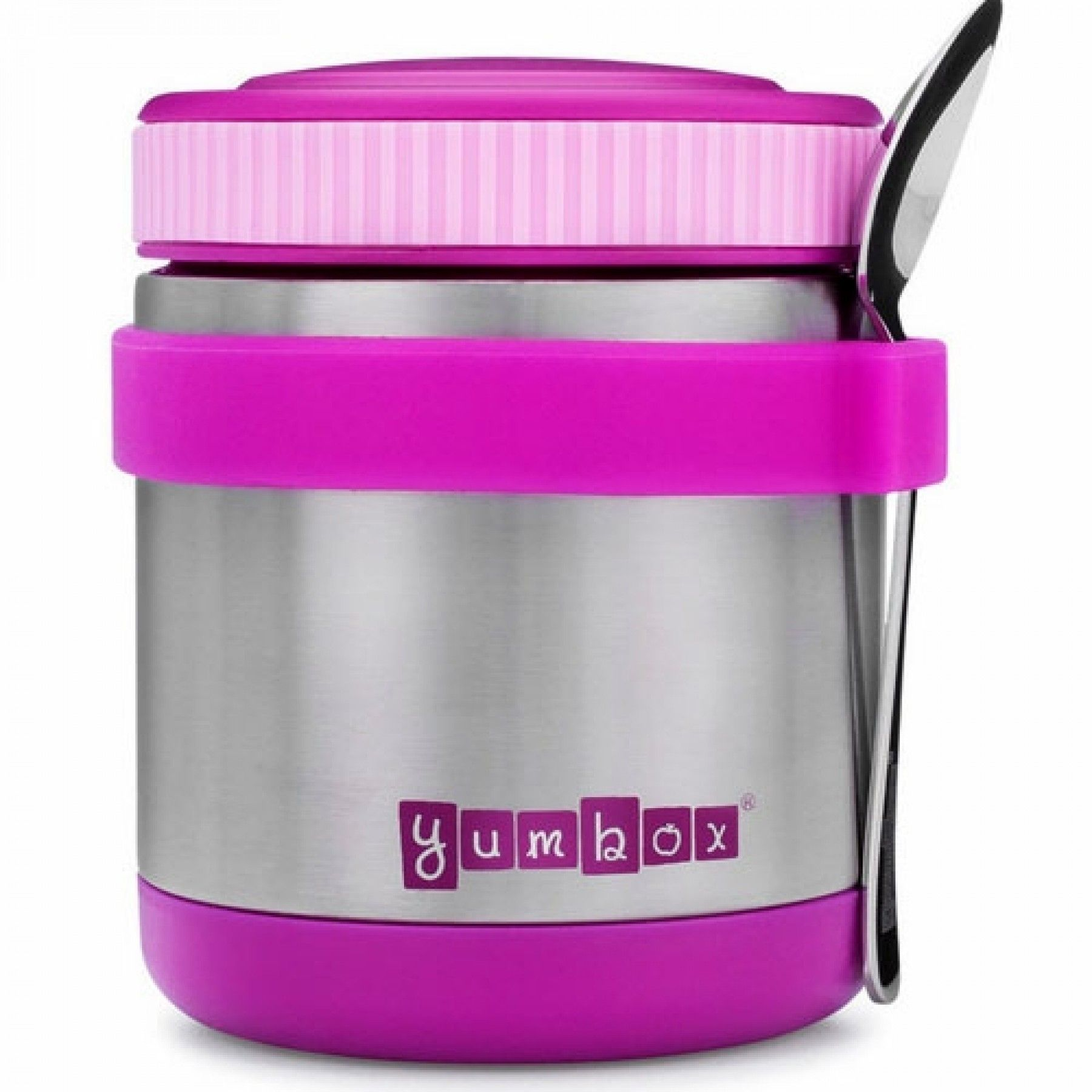 yumbox zuppa thermos container met lepel - paars | ilovespeelgoed.nl