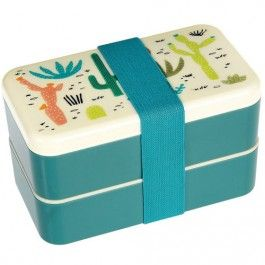 rex london bentobox XL met bestek - desert in bloom | ilovespeelgoed.nl
