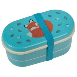 rex london bento box met bestek - rusty the fox | ilovespeelgoed.nl