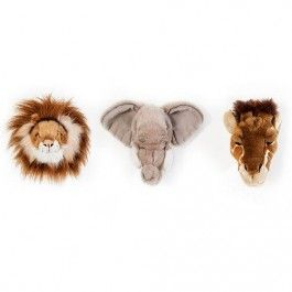 wild & soft trophy mini heads safari giftbox | ilovespeelgoed.nl