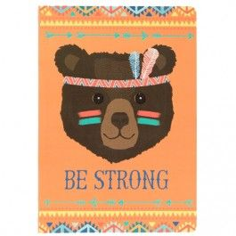 sass & belle blanco A5 schrift be strong beer  CR117 | ilovespeelgoed.nl