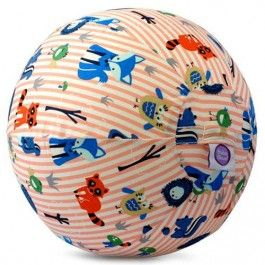 bubabloon balloon cover - animals stripes pink | ilovespeelgoed.nl