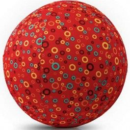 bubabloon balloon cover - circles red | ilovespeelgoed.nl