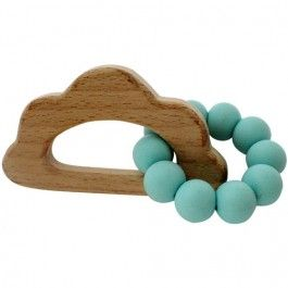 chewies & more bijtring wolk - turquoise | ilovespeelgoed.nl