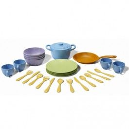 green toys dinerset - gerecycled | ilovespeelgoed.nl