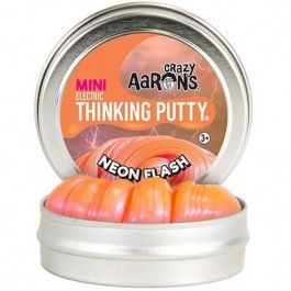 crazy aarons electric thinking putty - neon flash mini | ilovespeelgoed.nl