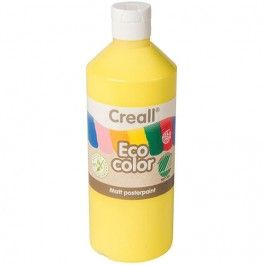 creall eco color plakaatverf  500ml  - licht geel
