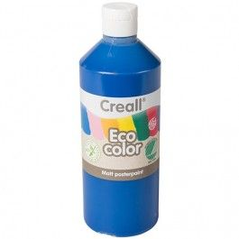 creall eco color plakaatverf 500ml - donker blauw