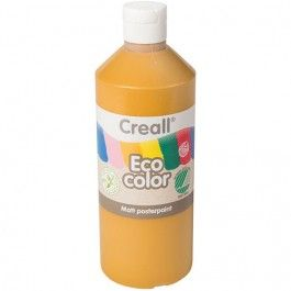 creall eco color plakaatverf 500ml - oker