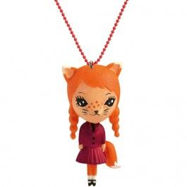 djeco kinderketting lovely charms - cat | ilovespeelgoed.nl