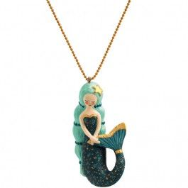 djeco kinderketting lovely charms - mermaid | ilovespeelgoed.nl
