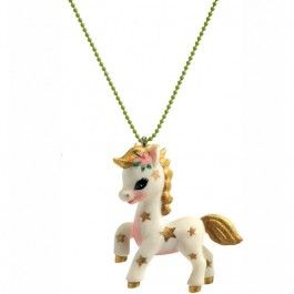 djeco kinderketting lovely charms - poney | ilovespeelgoed.nl