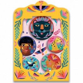 djeco kinderbuttons lovely badges - afrika | ilovespeelgoed.nl