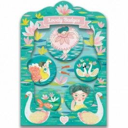 djeco kinderbuttons lovely badges - ballet | ilovespeelgoed.nl
