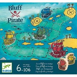djeco strategie- en blufspel bluff pirate | ilovespeelgoed.nl