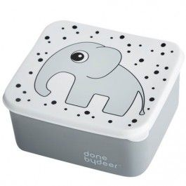 done by deer lunchbox olifant - grijs | ilovespeelgoed.nl