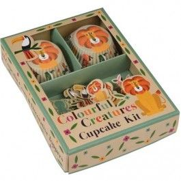 rex london cupcake set colourful creatures (24st) | ilovespeelgoed.nl