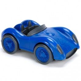 green toys raceauto blauw - gerecycled | ilovespeelgoed.nl