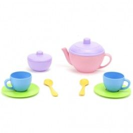 green toys theeservies blauw 10-delig - gerecycled | ilovespeelgoed.nl