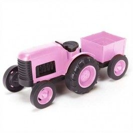 green toys tractor roze - gerecycled GTTRT01137 | ilovespeelgoed.nl