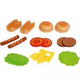 hape hamburgers en hotdogs set