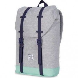 herschel rugzak retreat youth light grey cross - lucite green 10248-01608-OS | ilovespeelgoed.nl