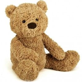 jellycat knuffelbeer bumbly bear - l - 57 cm   ilovespeelgoed.nl