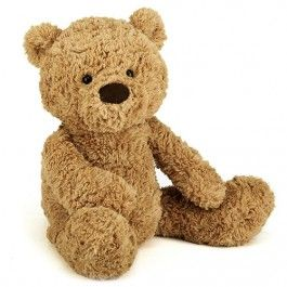 jellycat knuffelbeer bumbly bear - m - 42 cm   ilovespeelgoed.nl