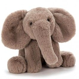 jellycat knuffelolifant smudge - 34 cm | ilovespeelgoed.nl