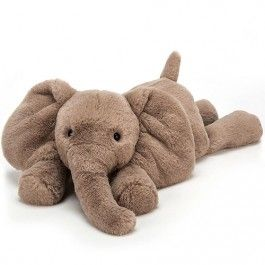 jellycat knuffelolifant smudge - l - 56 cm   ilovespeelgoed.nl