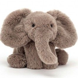 jellycat knuffelolifant smudge - s - 17 cm | ilovespeelgoed.nl