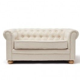 kids concept chesterfield kinderbank beige - small | ilovespeelgoed.nl
