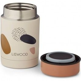 liewood thermos container 250ml - bubbly sandy | ilovespeelgoed.nl
