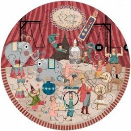 londji ronde puzzel circus (24st)) PZ330 | ilovespeelgoed.nl