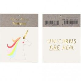 meri meri tattoos 'unicorns are real' | ilovespeelgoed.nl
