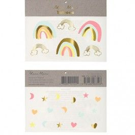 meri meri tattoos neon rainbows tattoos 45-2871 | ilovespeelgoed.nl
