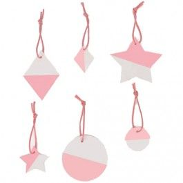 my little day hangtags roze-wit (6st) MLD-PAGEOBIROCL | ilovespeelgoed.nl