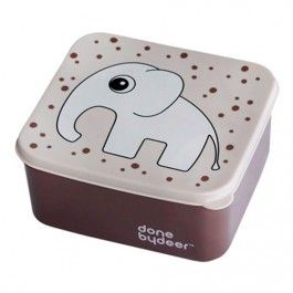 done by deer lunchbox olifant - poederroze 10651 | ilovespeelgoed.nl