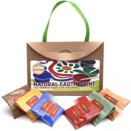 natural earth paint - children earth paint kit petite 105 | ilovespeelgoed.nl