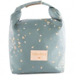 nobodinoz eco lunchtas - gold confetti magic green | ilovespeelgoed.nl