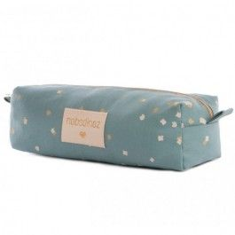 nobodinoz etui too cool - gold confetti magic green | ilovespeelgoed.nl